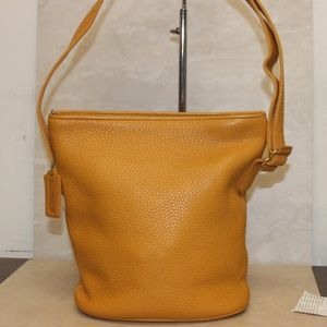 VTG Coach 4907 Sonoma Yellow Bucket Crossbody Bag